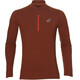 asics LS 1/2 Zip Jersey Men red clay heather